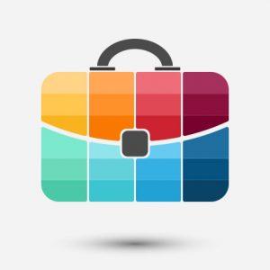 briefcase diagram using multiple colours